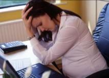 Khi mang bau bi stress se lay cang thang cho con 1